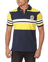 Rampwaq Men's Polo (RWPLSTR003_L_Yellow_Large)