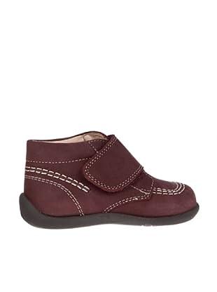 Pablosky Zapatos Abotinado Velcro Ancho (Granate)