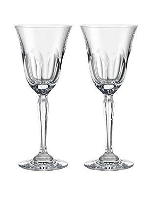 Rogaška Set of 2 Aulide 7-Oz. Red Wine Glasses, Clear
