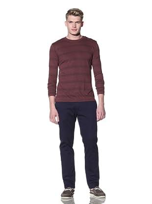 Riviera Club Men's Naval Jumper Shirt (Burgundy)