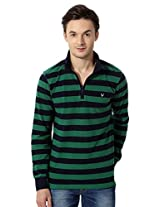 Allen Solly Striped Pullover With Zipper