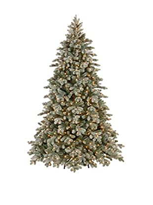 National Tree Company 7.5' Poly Frosted Colorado Spruce Hinged Tree