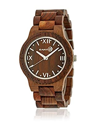 Earth Reloj con movimiento japonés Unisex Bighorn Rojo 46 mm