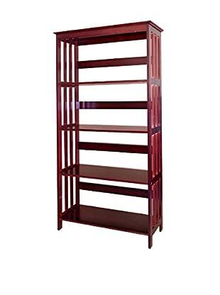 ORE International 4-Tier Bookcase, Cherry