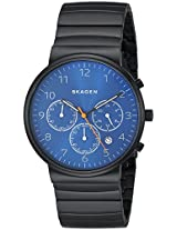Skagen Ancher Chronograph Blue Dial Men's Watch -SKW6166