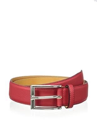 Leone Braconi Men's Toro Morbido Belt (Red)