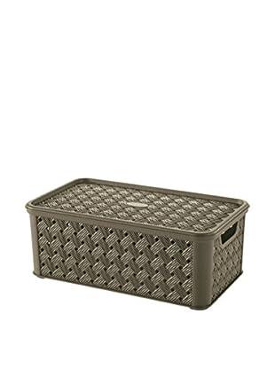 Tontarelli Caja Contenedor x 8 Arianna Media 4L Marrón
