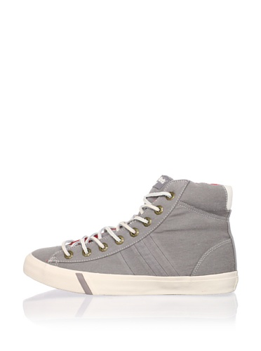 PRO-Keds Men's Royal Plus Hi Washed Twill Sneaker (Charcoal)
