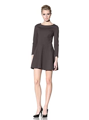 Cynthia Rowley Women's Long Sleeve Double Knit Swing Dress