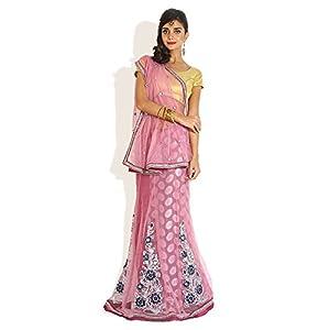 Darling Style Lehenga Saree -Pink-FS