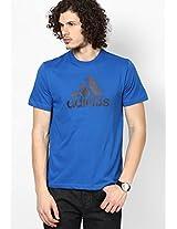 Blue Training Round Neck T-Shirt