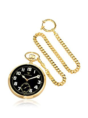 Catorex Men's 170.6.1810.321 Les Breuleux 18K Gold-Plated Black Pocket Watch