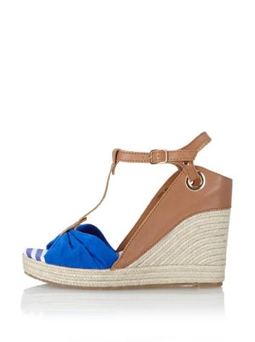 Kelsi Dagger Women's Ricky Espadrille Wedge Sandal (Cognac/Blue)