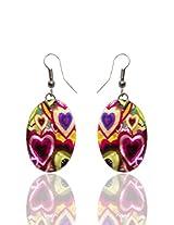 Optionsz Multicolor Round Shape Elegent Hanging Dangle Earring , OPTERJPAZ223