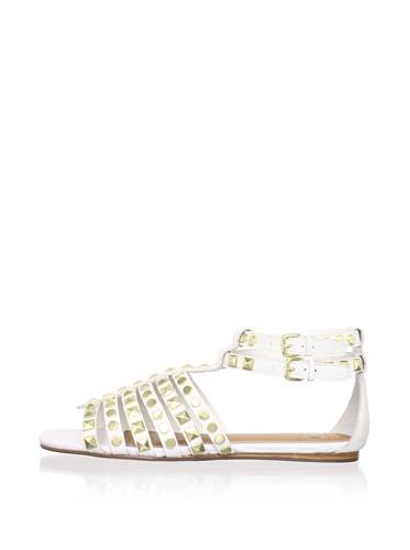 Kelsi Dagger Women's Roxy Flat Studded Sandal (White)