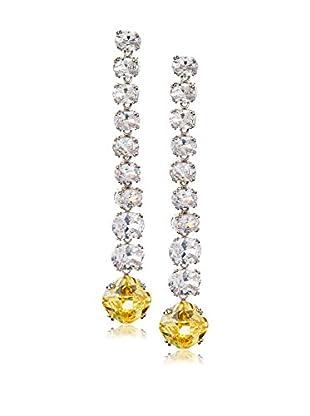 CZ by Kenneth Jay Lane Graduated Multi CZ Dangle Earrings