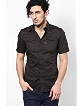 Black Solid Casual Shirt G-Star RAW