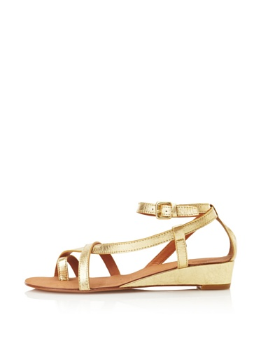 Ash Women's Lips Sandal (Gold)