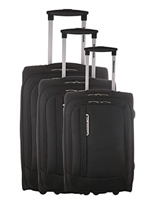 Platinium Set 3 Trolleys Mazzola (Negro)