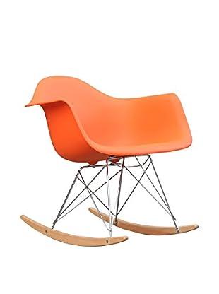 Manhattan Living Rocker Arm Chair, Orange