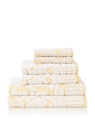 Famous International Chantilly 6-Piece Towel Set (Straw)