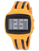 Activa By Invicta Unisex AA400-006 Black Digital Dial Orange and Black Polyurethane Watch