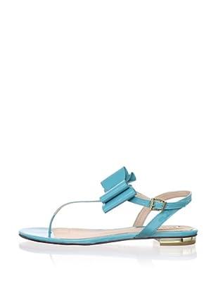 Schutz Women's Thong Sandal with Bow (Dark Aqua)