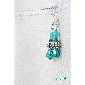 August by Ritu Cipy Drop Crystal And Bead Earrings