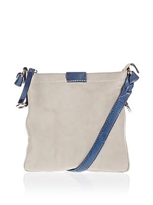 Borella Leder Cross-Body Bag (hellgrau/jeans)