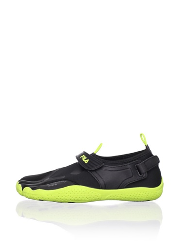 Fila Kid's Skele-Toes EZ Slide Shoe (Little Kid/Big Kid) (Black/Lime Punch)