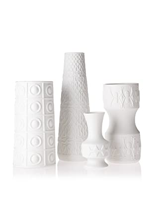 The HomePort Collection Set of 4 Deco Blanc Vases