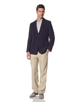 Martin Gordon Men's Silk-Linen Blazer (Navy)