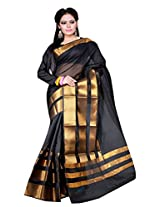 Asavari Ebony Black Contemporary Design Art Silk Banarasi Saree
