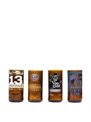 Set of 4 Assorted Beer Tumblers
