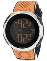 Gucci Men's YA114104 I-Gucci Digital Orange Black Rubber Strap Watch