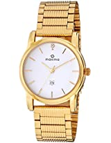 Maxima Analog White Dial Women's Watch - 28402CMLY
