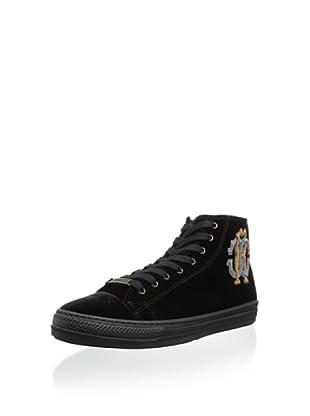Roberto Cavalli Men's Elegant High-Top Sneaker (Black)