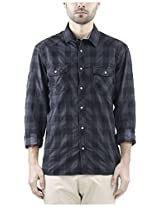 Celio Men's Regular Fit Shirt (Grey ,S)