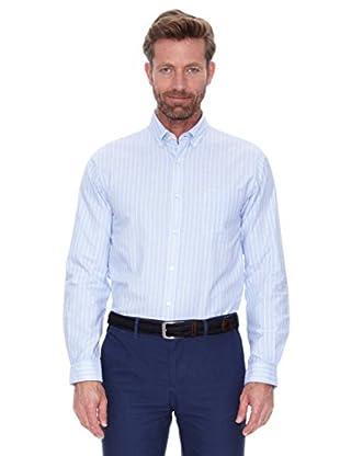Cortefiel Camisa Fondo Azul Raya (Azul)