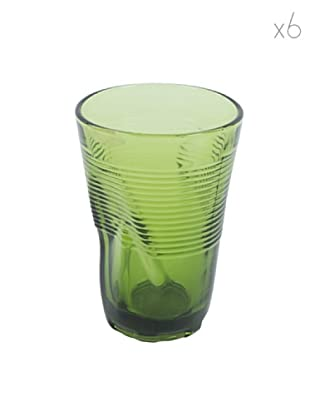 Kaleidos Set 6 Bicchieri Accartocciati 340 ml (Verde)