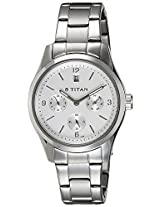 Titan Purple Multi-Function Analog Silver Dial Women's Watch - 9962SM02J