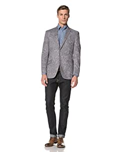 Tallia Men's Vesuvio Paisley Print 2-Button Jacket (Grey)