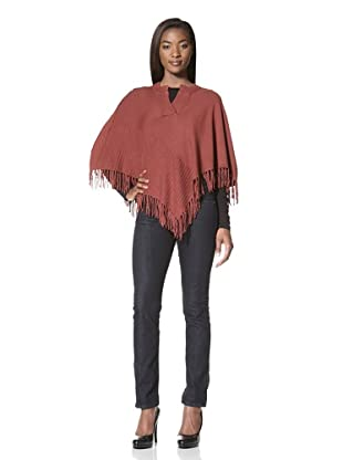 Central Park West Women's Fringed Poncho (Russet)