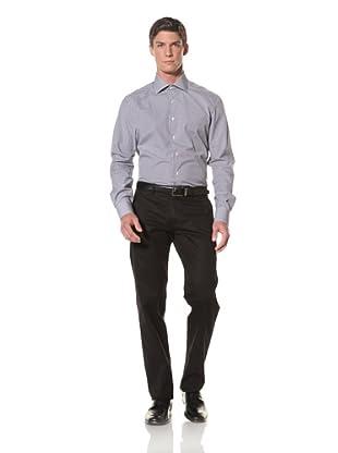 De Corato Men's Dress Shirt (Navy Blue Check)