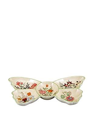 Oriental Danny 5-Section Porcelain Butterfly Plate