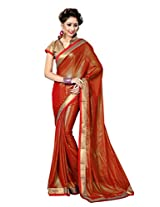 Sourbh Saree Sparkling Red Lace Work Faux Georgette Best Sarees for Women(with color option) Party Wear, Karwa Chauth Gifts,Clothing Collection