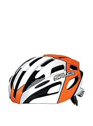 Salice Casco de Ciclismo Spin Naranja / Blanco