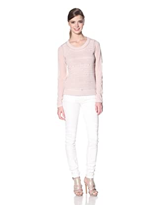 Zero Degrees Celsius Women's Crochet Front Sweater (Nude)