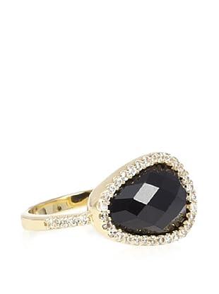 Melanie Auld Pavé Black Onyx Natural Ring