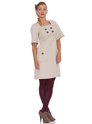 Divina Providencia Kleid mit Taschen (Beige)